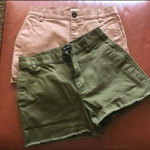 Madewell Shorts Bundle Olive & Rose